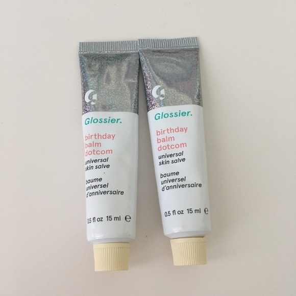 NEW Glossier Birthday Balm Dotcom Set Of 2